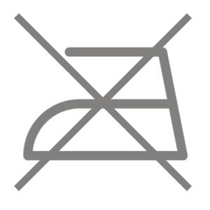 Symbol zeigt buegeln verboten