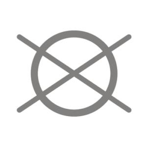 Symbol zeigt chemisch Reinigen verboten
