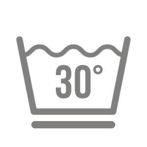 Symbol für waschen im Schonprogramm 30 c